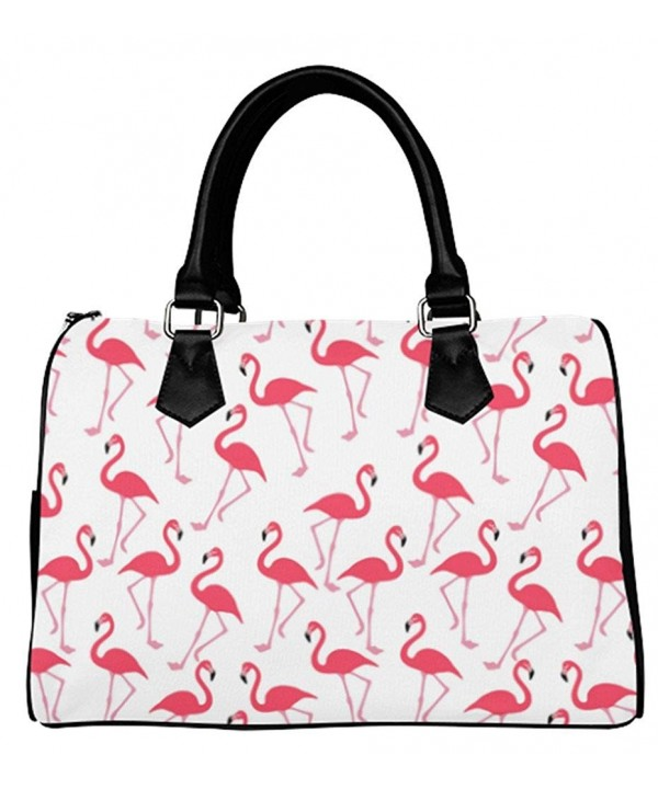 Fashionable Female Handbags Flamingo Background