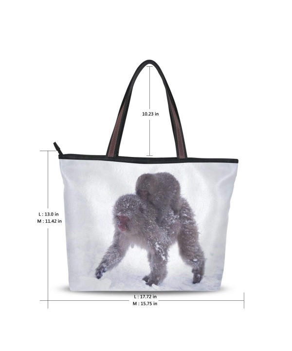 Handle Shoulder Japanese Macaque Handbag