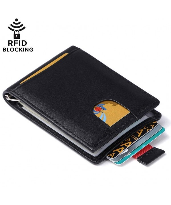 Huztencor Blocking Wallets Genuine Minimalist