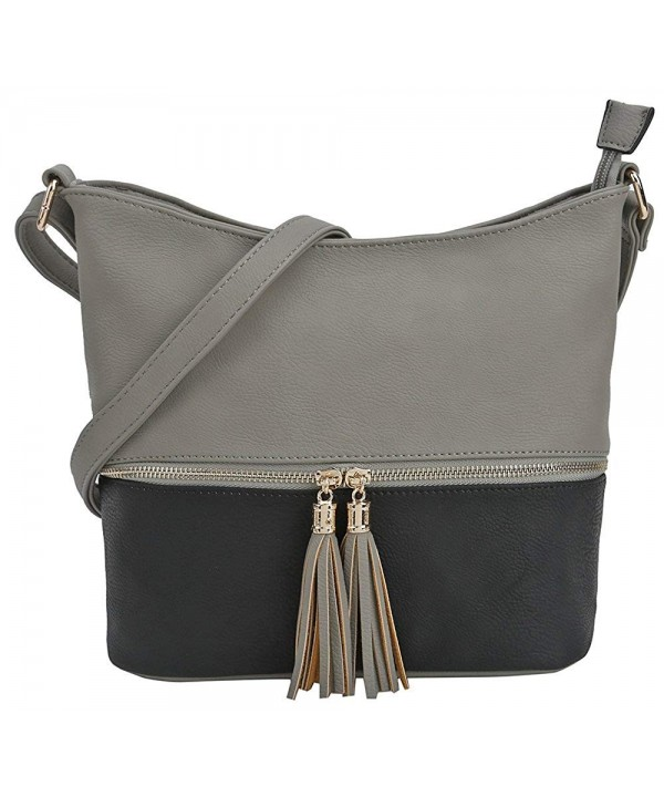 DELUXITY Medium Crossbody Tassel Zipper