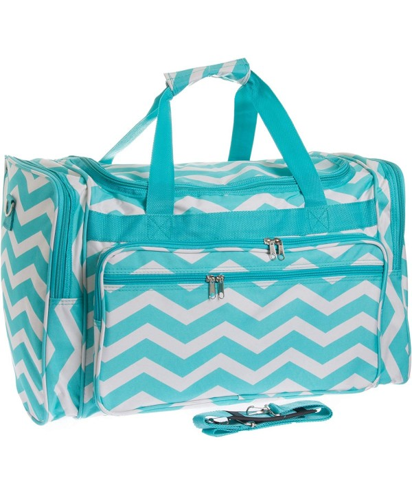 Travel Duffle Light White Chevron