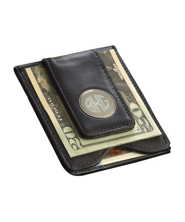 Personalized Leather Wallet Money Clip
