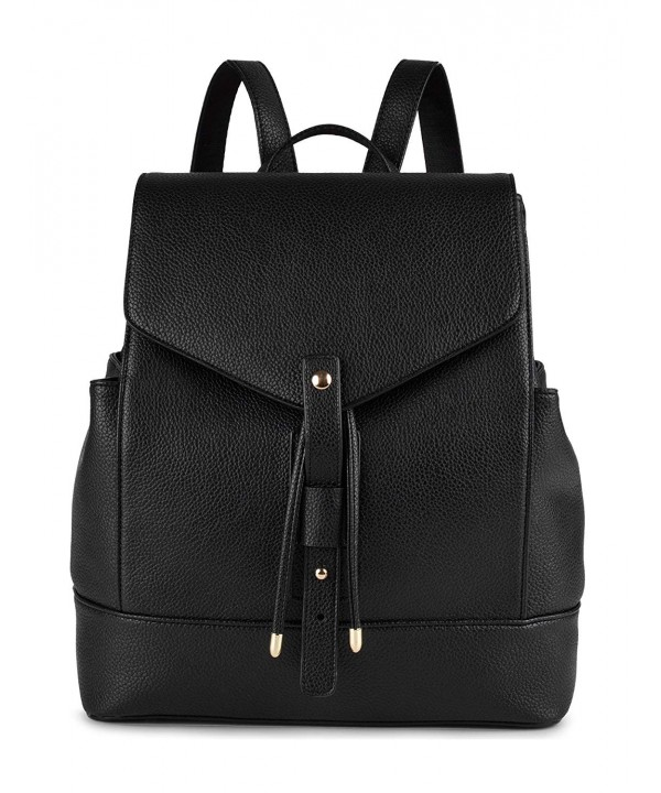 Leather Backpack COOFIT Schoolbag Daypack