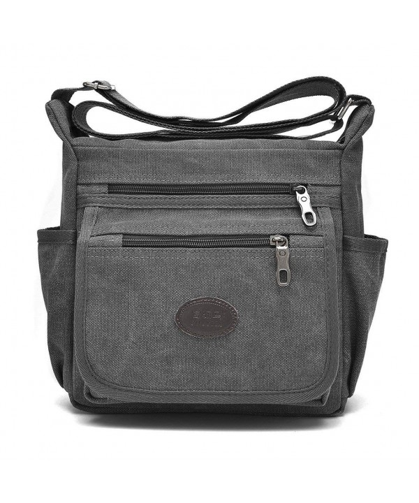 Qflmy Vintage Messenger Crossbody Shoulder