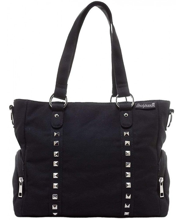 Sourpuss Leda Canvas Purse Black