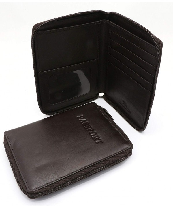 Bifold Genuine Leather Passport Around