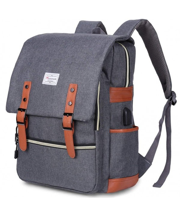 Modoker Vintage Backpack Charging Notebook