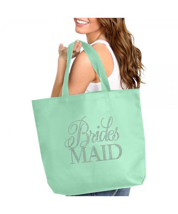Flirty Rhinestone Bridesmaid Tote Bag