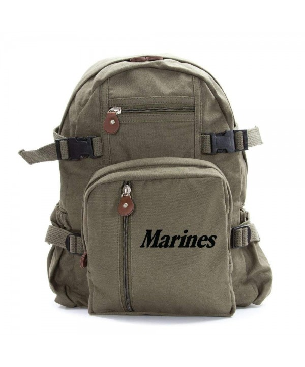 Marine Army Heavyweight Canvas Backpack