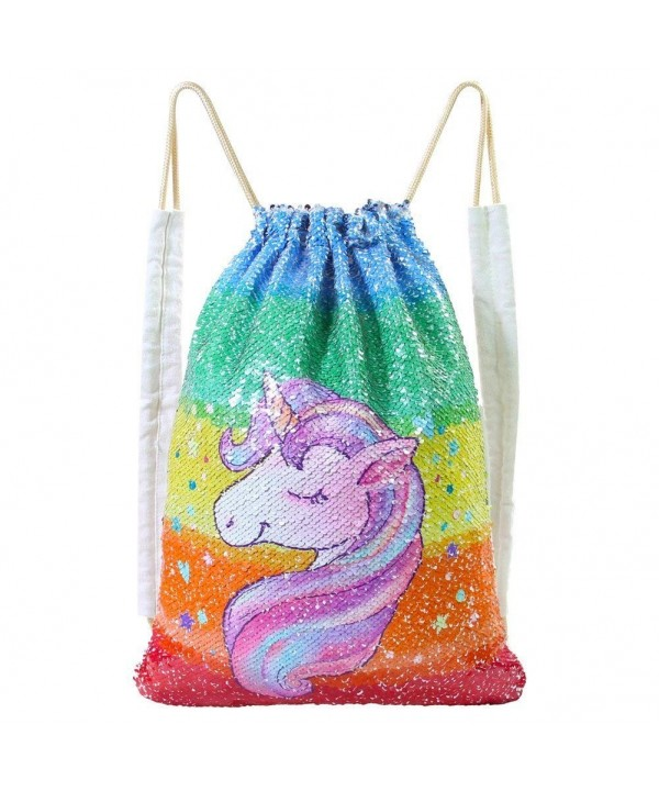 MHJY Mermaid Drawstring Backpack Colorful