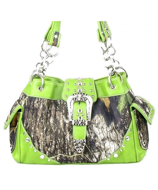 Western Buckle Purse Camouflage Handbag