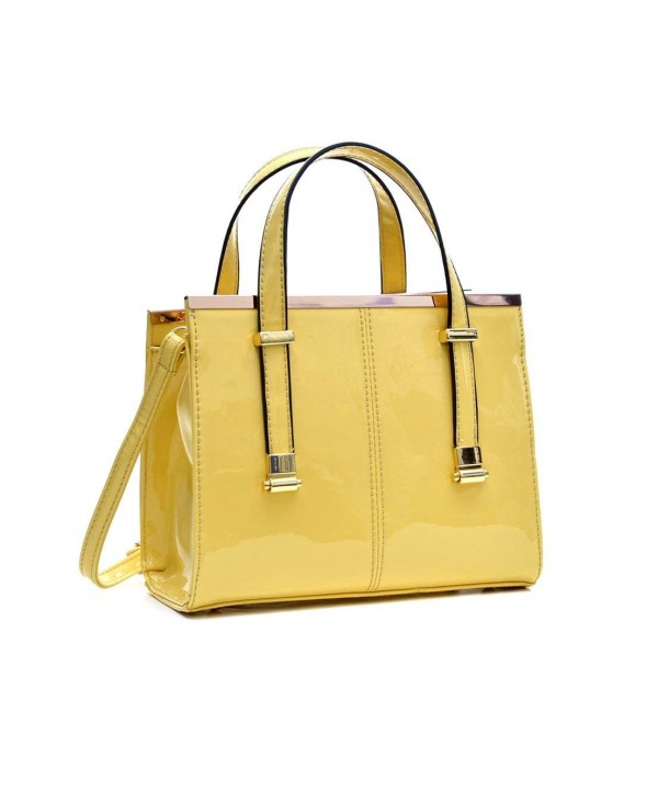 Dasein Fashion Satchel Crossbody Yellow