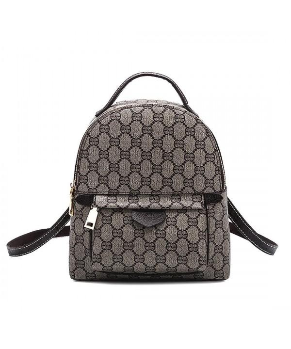 943f9f496703 Designer Mini Leather Backpack Purse for Women- Fashion Small Shoulder  Purse Handbag - Grey - C618ET9S55Y