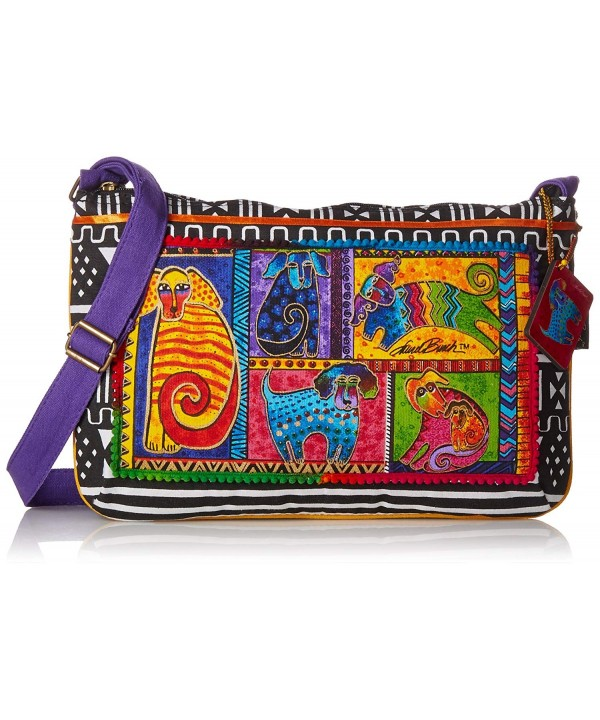 Laurel Burch Crossbody 15 Inch Patchwork