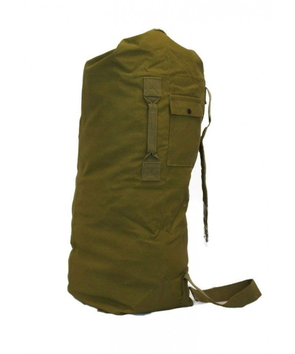 Military Style Strap Canvas Duffel
