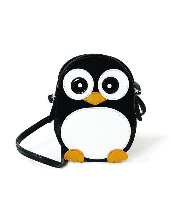 Wide Eyed Penguin Shoulder Crossbody Black