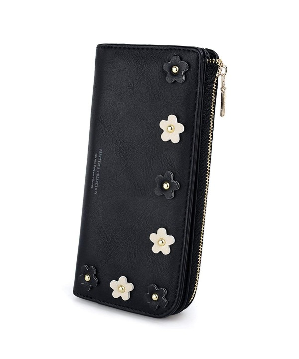 UTO Leather Wallet Flower Holder