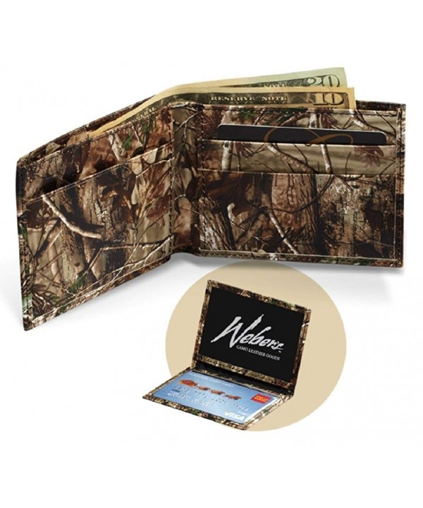 Realtree Leather Wallet Purpose Billfold