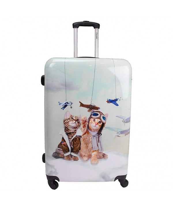 Chariot Lightweight Spinner Upright Suitcase Cat