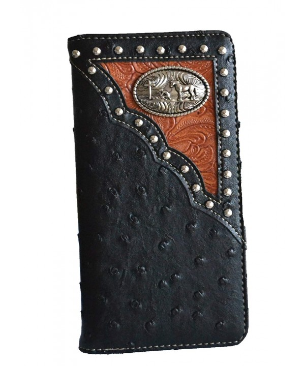 western ostrich leather praying concho