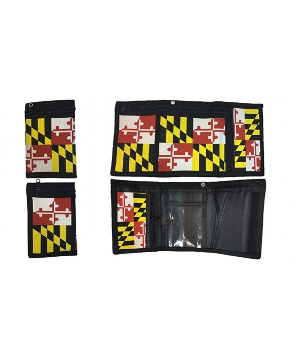 Maryland Flag Mens Nylon Wallet