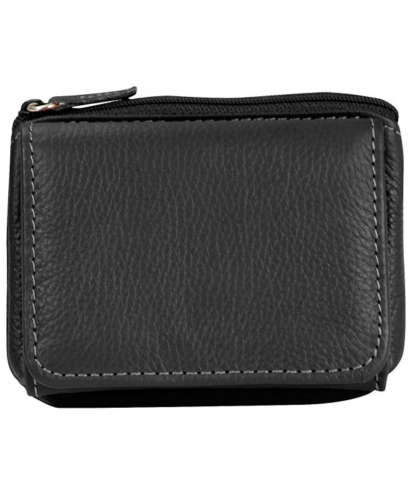 Mundi Womens Leather Wallet Black