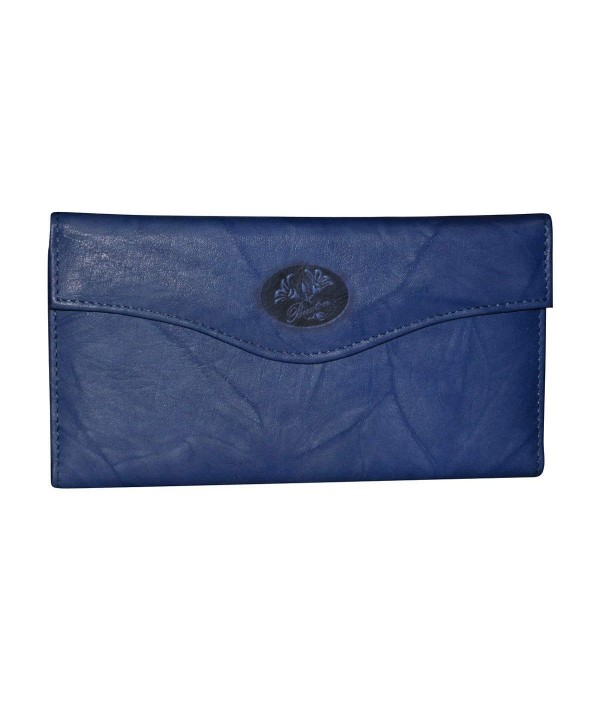 Buxton Heiress Organizer Clutch Navy