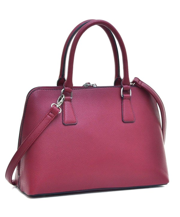Dasein Satchel Handbag Zip Around Shoulder
