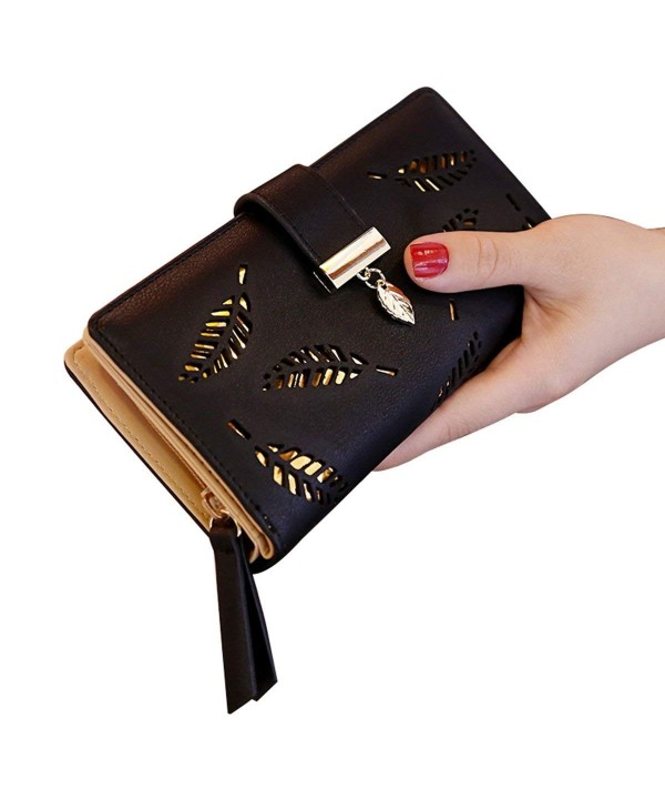 ShiningLove Bifold Hollowed Multipockets Leather
