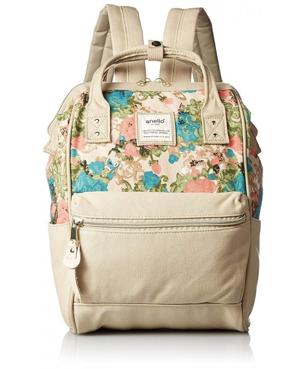 Anello Polyester Canvas Backpacks Flower