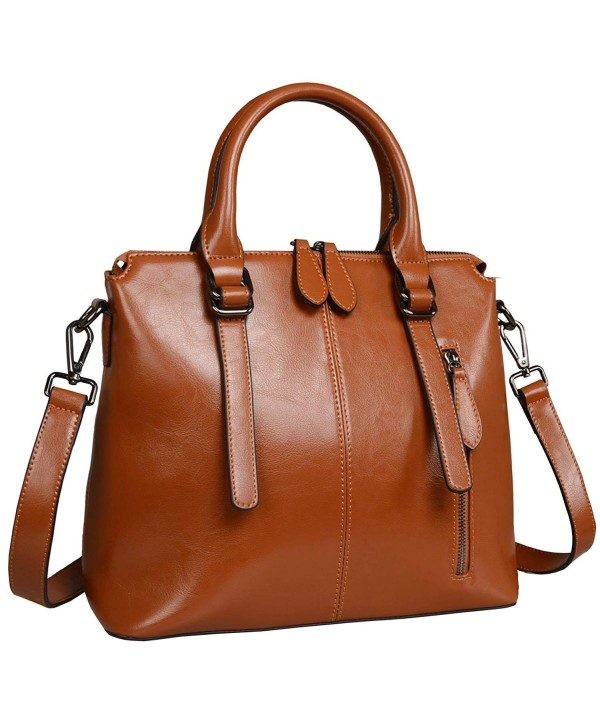 Womens Handbags Stuctured Shoulder Brown R