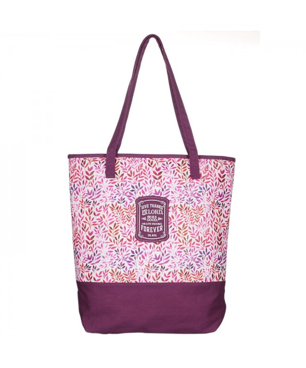 Plum Small Prints Canvas Tote