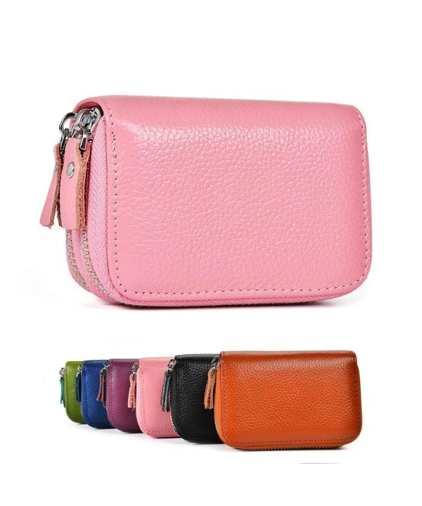 Genuine Leather Secured Spacious Zipper