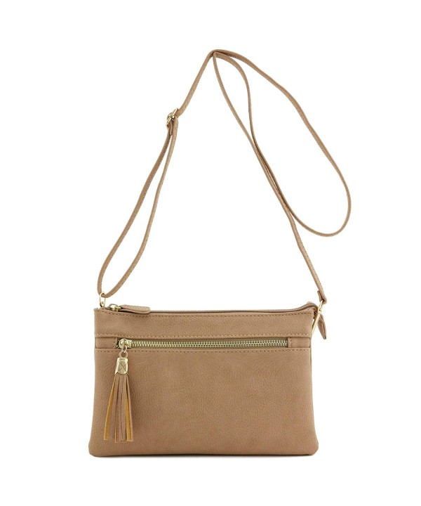Double Compartment Wristlet Crossbody Tassel