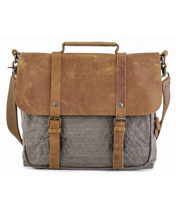 Gootium Vintage Briefcase Messenger Shoulder