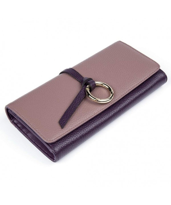 BOSTANTEN Leather Wristlets Organizer 4 purple