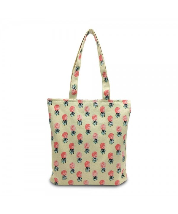 Pinele Fruit Canvas Shoulder Bag Foldaway Tote Travel Ping Zip Closure Cl17yyca4lq