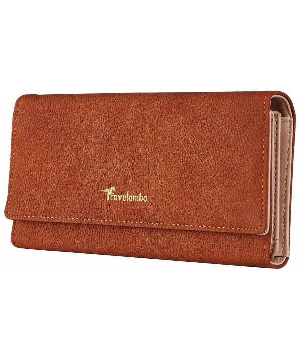 Travelambo Womens Wallet Leather Blocking
