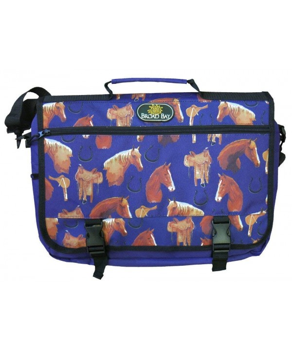 Horse Messenger Bag School Briefcase