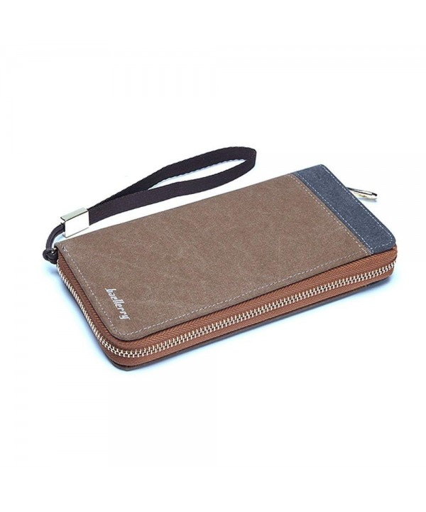 Canvas Zipper Wallet Handbag Compartments