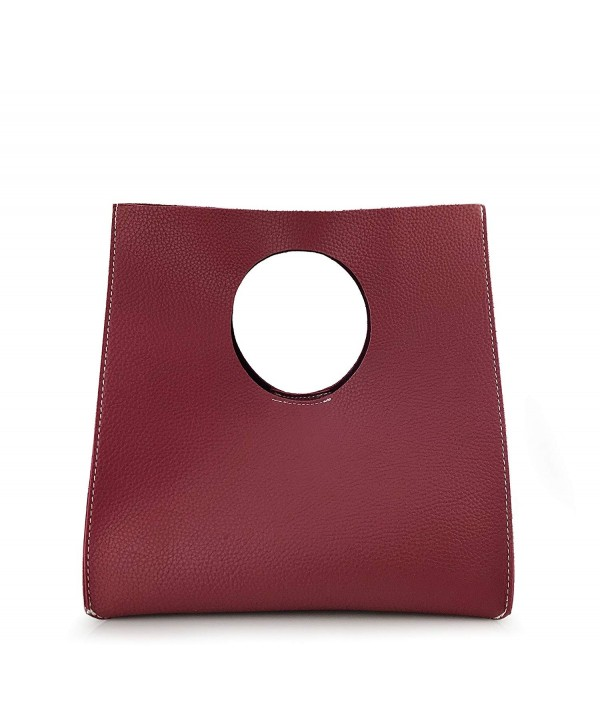 Hoxis Vintage Minimalist Leather Burgundy