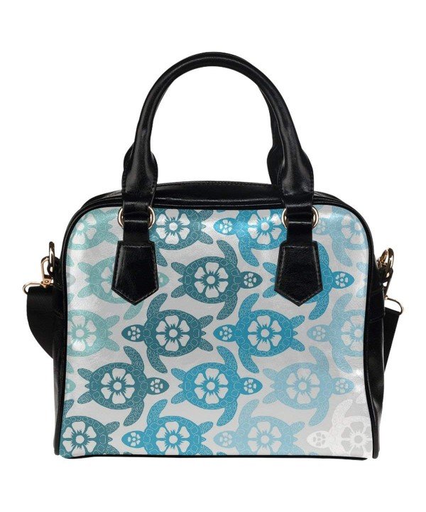 InterestPrint Turtle Leather Shoulder Handbag