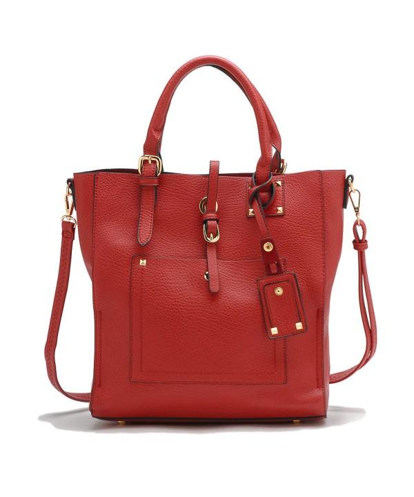 Tosca Front Pocket Tote Handbag