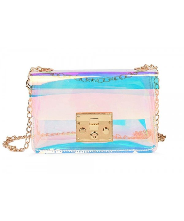 Hologram Clear Cross Shoulder Handbag