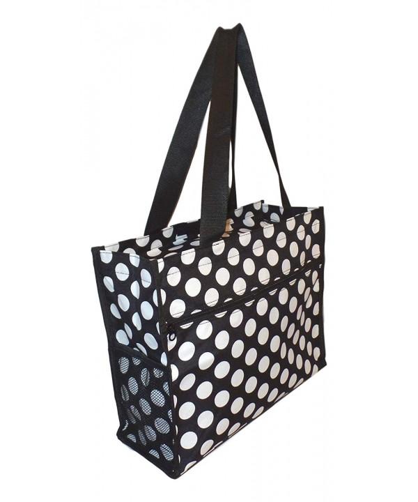 Medium Fashion Print Zipper Tote