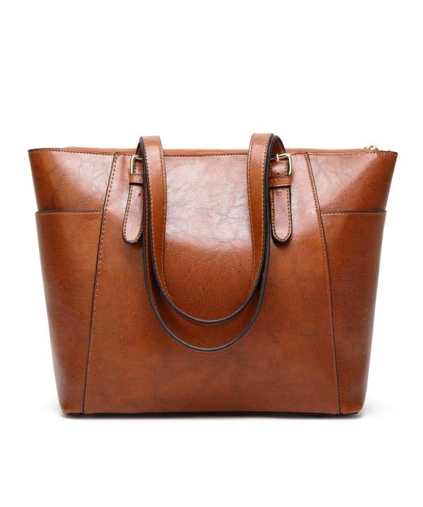 Caissip Handbags Shoulder Commute Leather
