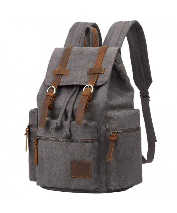 Berchirly Vintage Leather Backpack Rucksack