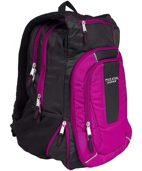 Five Star Expandable Backpack Pink