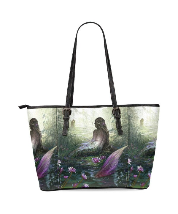 InterestPrint Mermaid Leather Shoulder Handbags