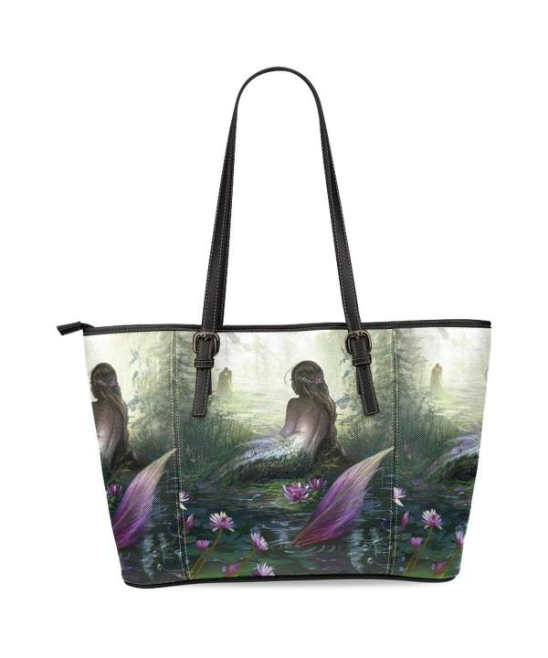 InterestPrint Mermaid Leather Shoulder Handbags
